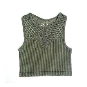 Olive crop top Size S/M